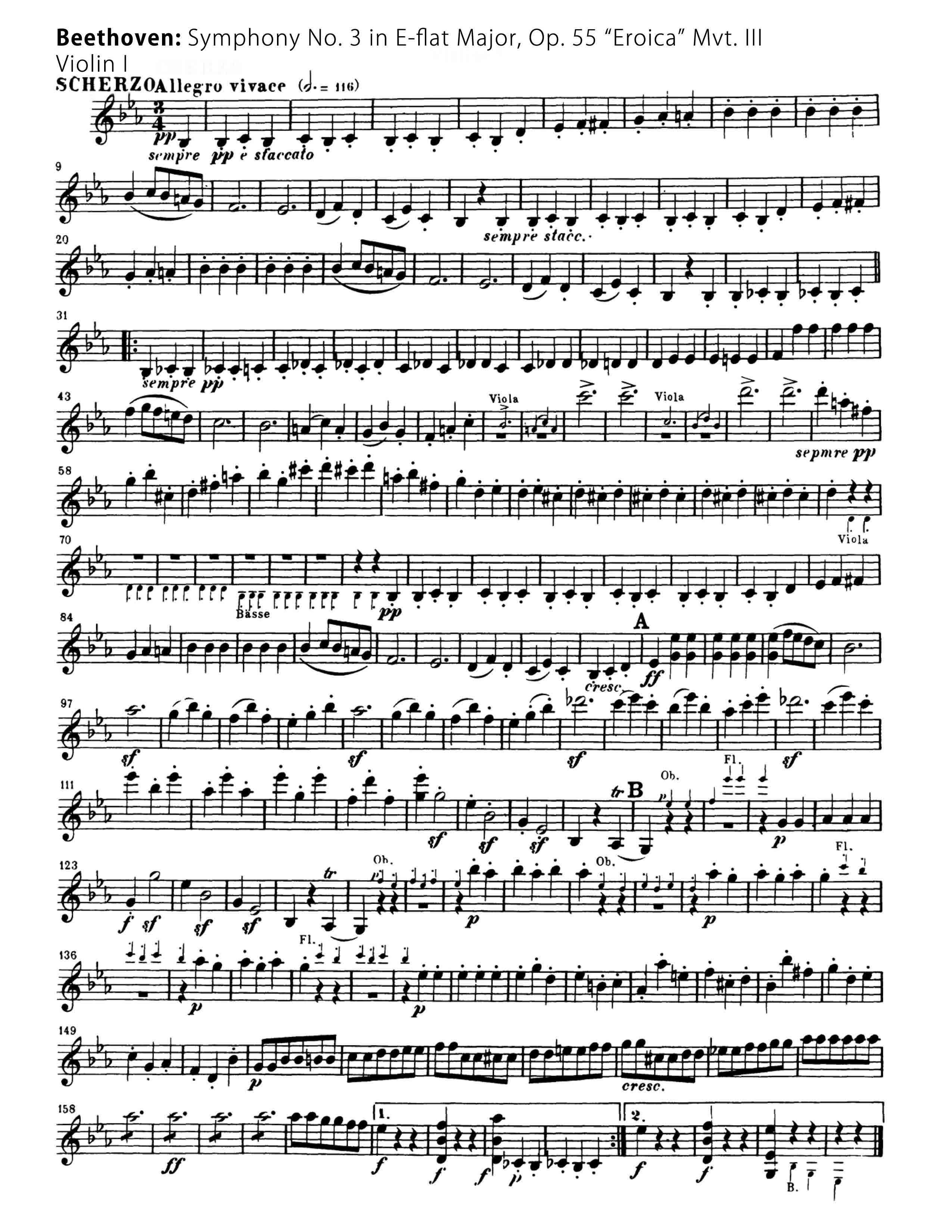Beethoven Symphony 3 mvt 3-Orchestral Violin Excerpts