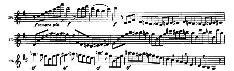 Brahms Symphony 2 orchestral violin excerpt 4th movement