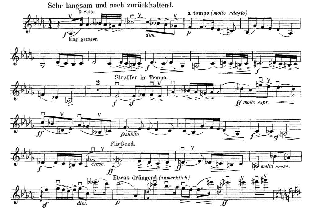 All Music Chords gnossienne no 1 sheet music : Mahler Symphony 9 2nd Violin Excerpt. Mvt. IV-Orchestra Excerpts