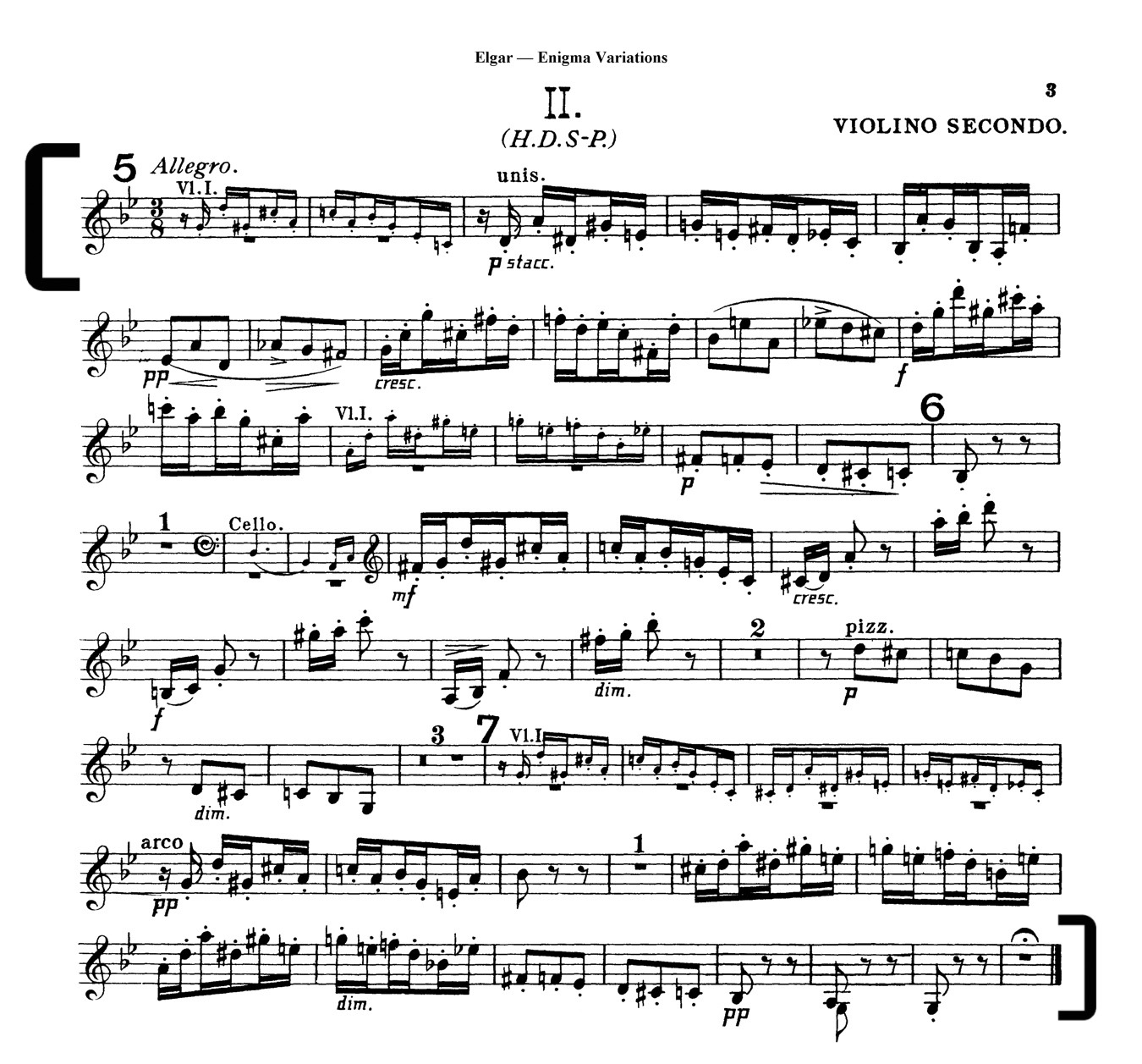 Elgar Enigma Variation 2nd Violin  excerpt