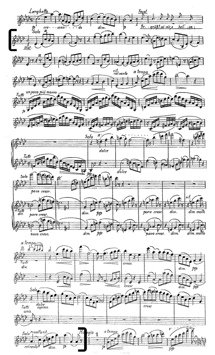 Gounod Faust violin excerpt